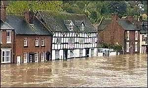 The floods in England this fall were the worst in living memory.