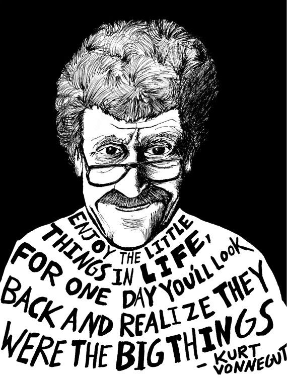Kurt Vonnegut Authors Series by Ryan Sheffield by RyanSheffield, $15.00