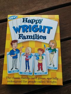 Here's a review of the Wright Family edition of the new personalized Happy Families card games by www.GoForItGames.co.uk