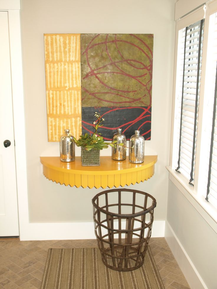 Wall Mounted DemiLune Table | Entryway | Pinterest | Tables