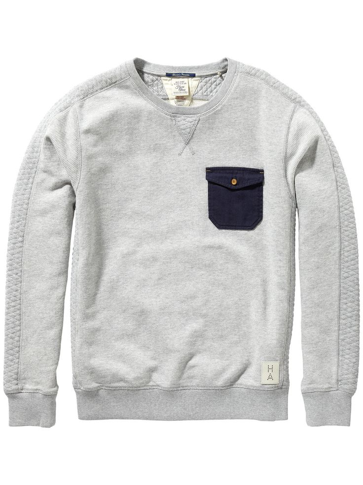 Woven pocket sweater | Sweat | Men's Clothing at Scotch & Soda