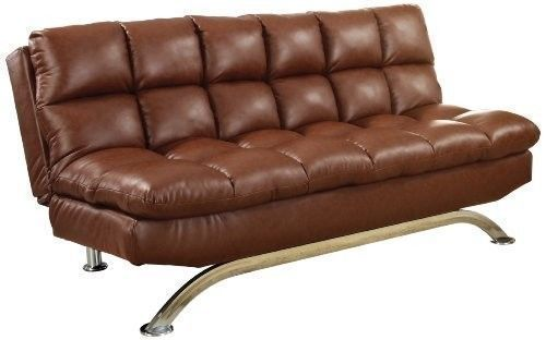 Convertible Leather Sofa Futon Couch Bed Sleeper Modern Living Room Furniture in Home & Garden, Furniture, Sofas, Loveseats & Chaises | eBay