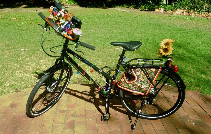Kerry's bike with 'From Russia With Love' - we love it :) !!