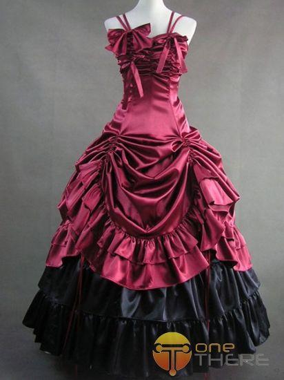 Rondingen stof rok| Gothic-Lolita-Jurken-Classic-lolita-rococo-victoriaanse-rode-lange-jurk-bruidsjurk-bmz_cache-f-f399008ee4df680780ef9346ec749475.image.412x550.jpg (412×550)