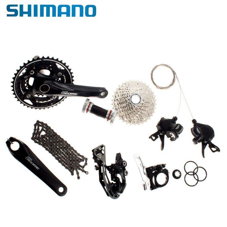 SHIMANO MTB Mountain Bike Groupset 10 speed Groupset 170mm Crankset 7pcs Bicycle Parts Deore M610 #Affiliate