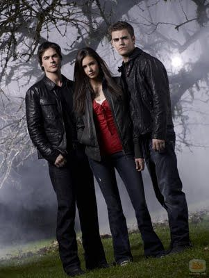 nina dobrev and paul wesley on set  | The-Vampire-Diaries-Ian-Somerhalder-Nina-Dobrev-Paul-Wesley