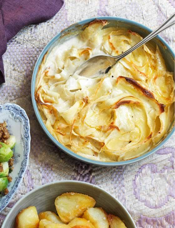 Parsnip gratin, by Marcus Wareing. A heart warming and indulgent side to your Easter weekend meal.