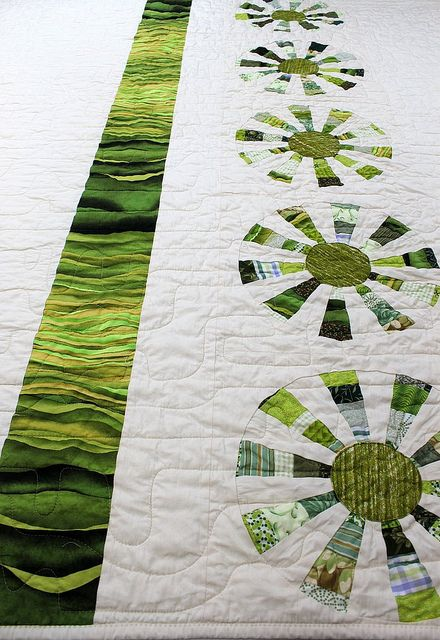 Green Sunburst Quilt