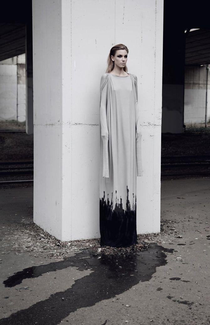 Dark fashion with a raw edge by Tereza Otahalikova