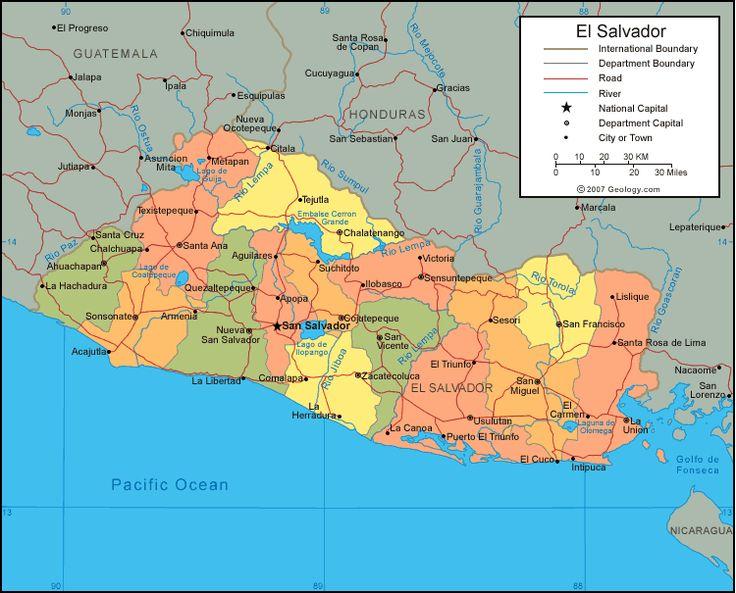 Where Is El Salvador El Salvador Map El Salvador Satellite - Central america physical map 2007
