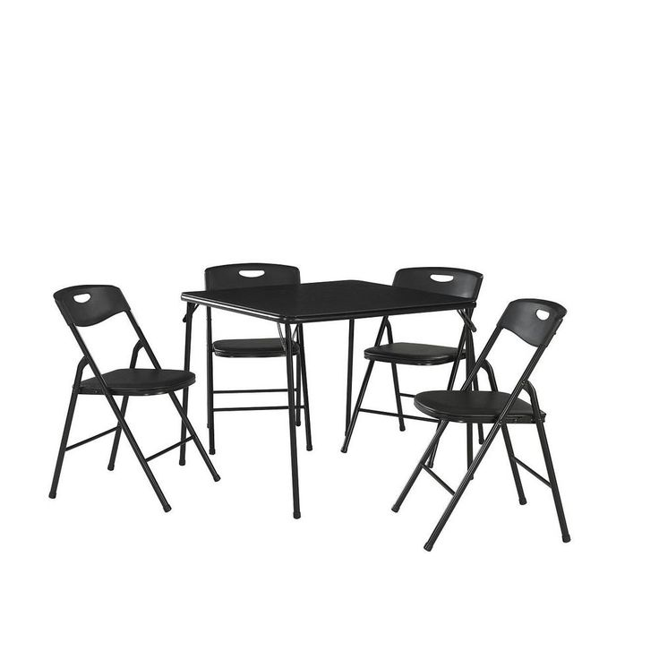 Home Depot Cosco 5-piece Black Folding Card Table - would love two sets for my apartment!