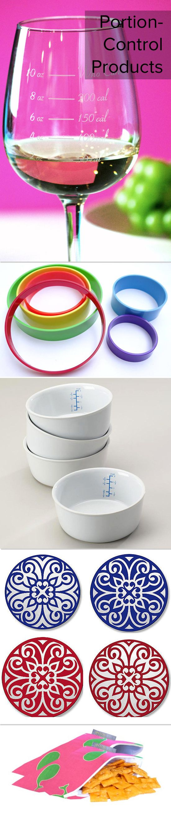 I really want the first and third items!!  Keep portions under control with these cute kitchen products