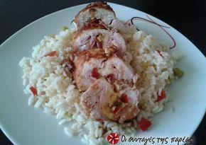 Φιλέτο κοτόπουλο γεμιστό νοστιμότατο