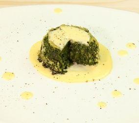 Flan di spinaci con salsa al parmigiano #ricette #granarolo
