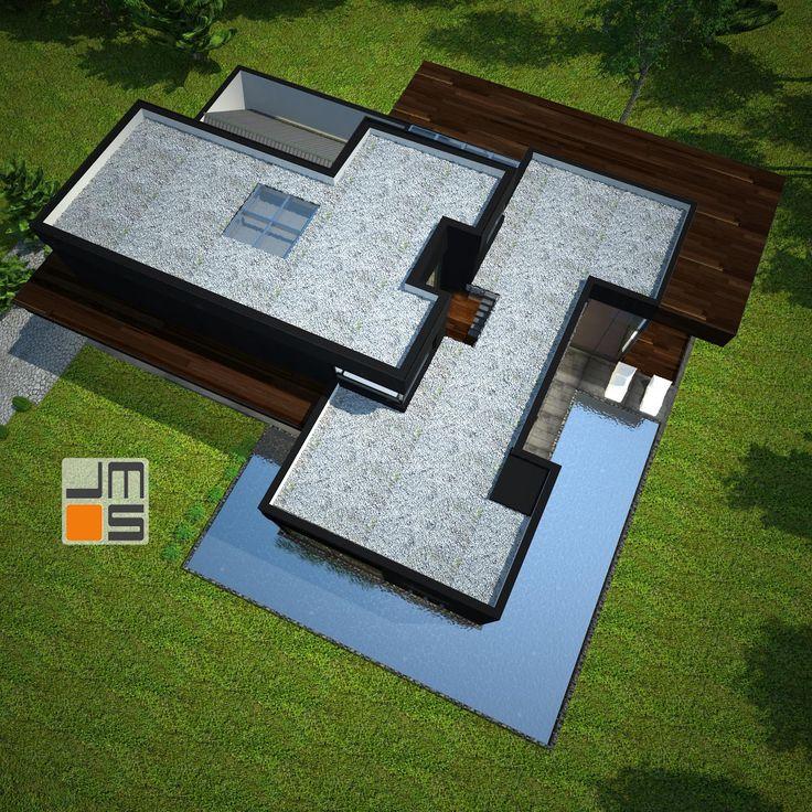 Nowoczesny projekt rezydencji z płaskim dachem w Bielsko Biała - JMS