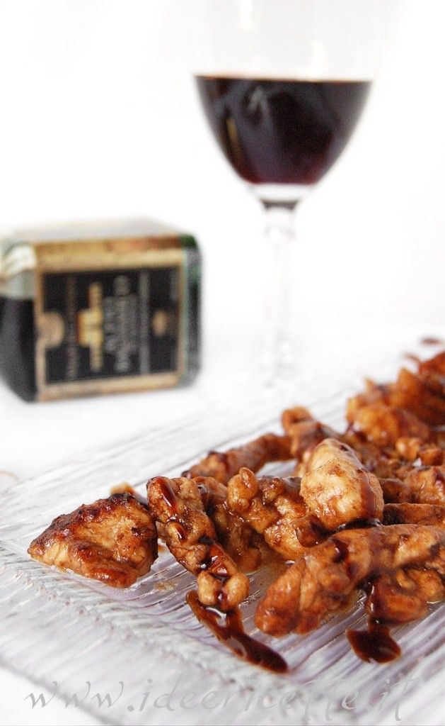 Ricetta Straccetti di pollo all'aceto balsamico