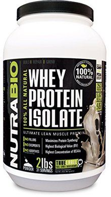 NutraBio Whey Protein Isolate Natural on PricePlow