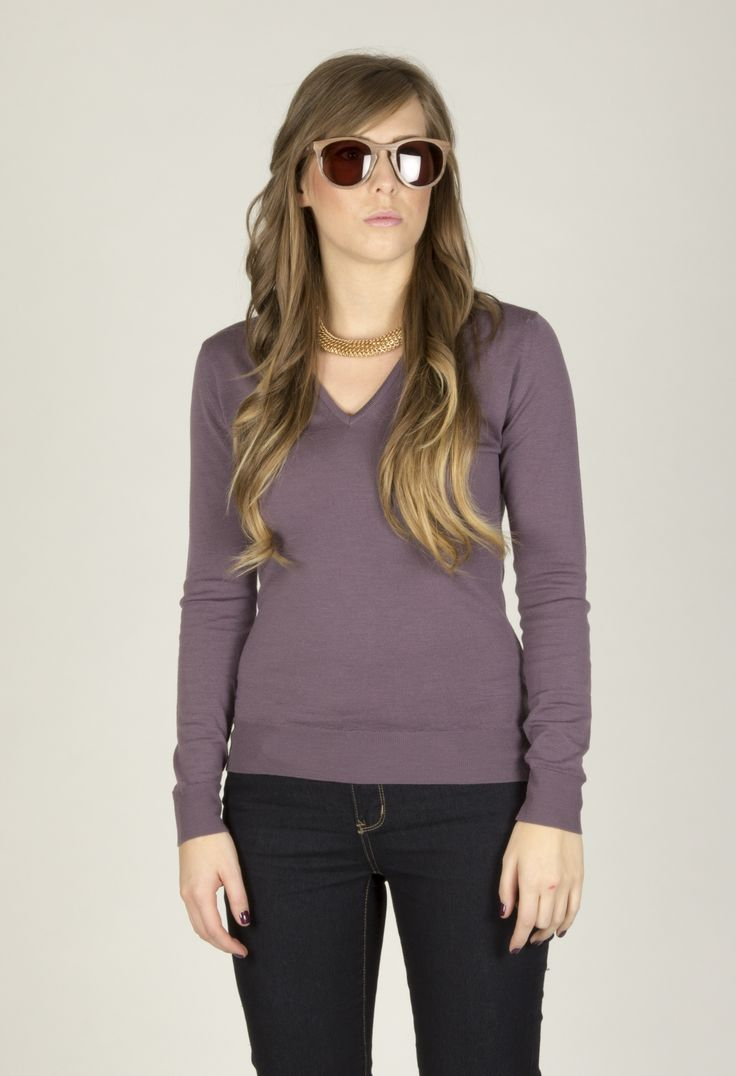 Orchid in Dusty Lilac worn with 'Gothard' style sunglasses. www.johnsmedley.com