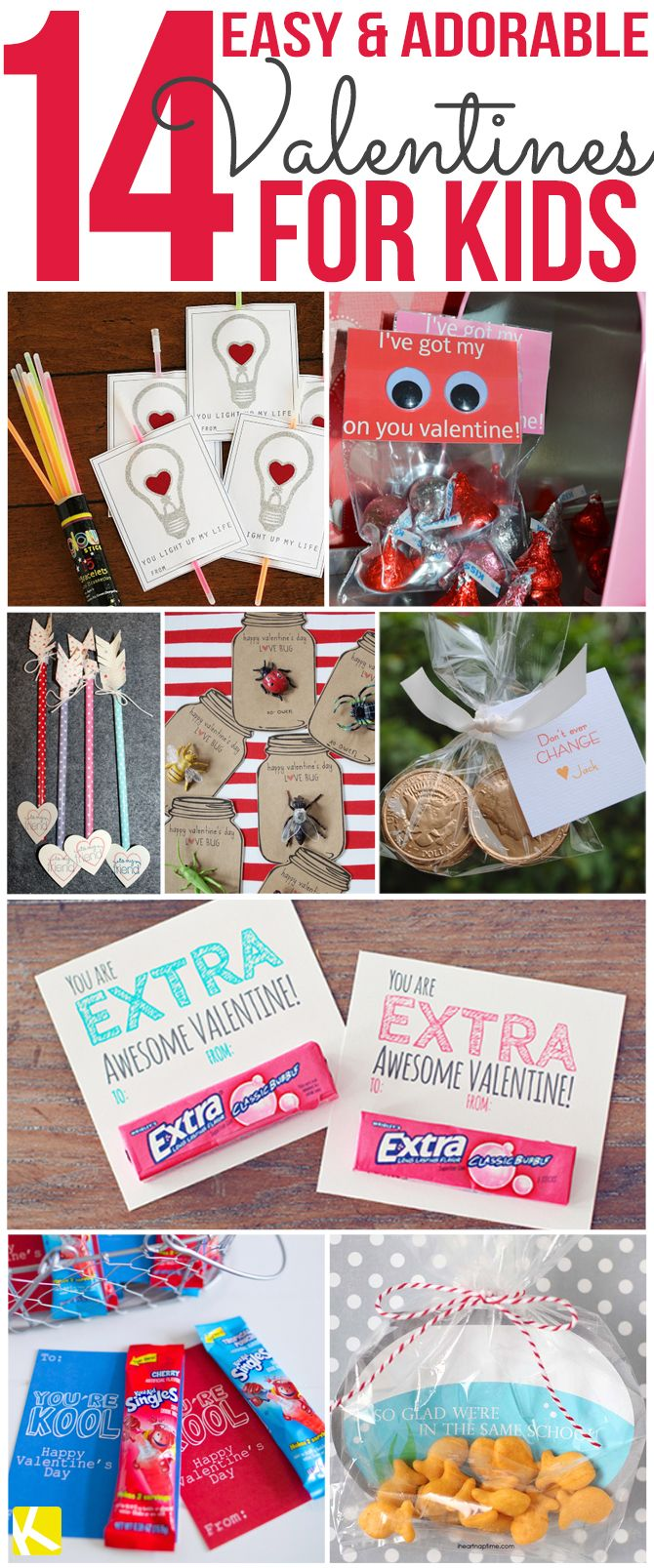 14 Easy And Adorable Valentines For Kids Valentine S Day