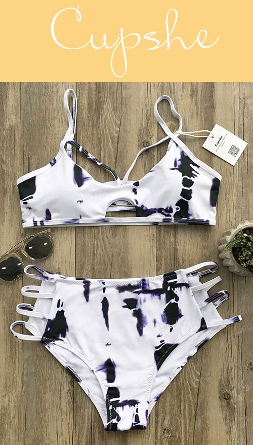Uh-huh, why is it in such a abstract pattern? $26.99 Only with easy return for your reference! Have this strappy&hollow detailed bikini set is just made for your preference! Take it from Cupshe with more holiday surprises!
