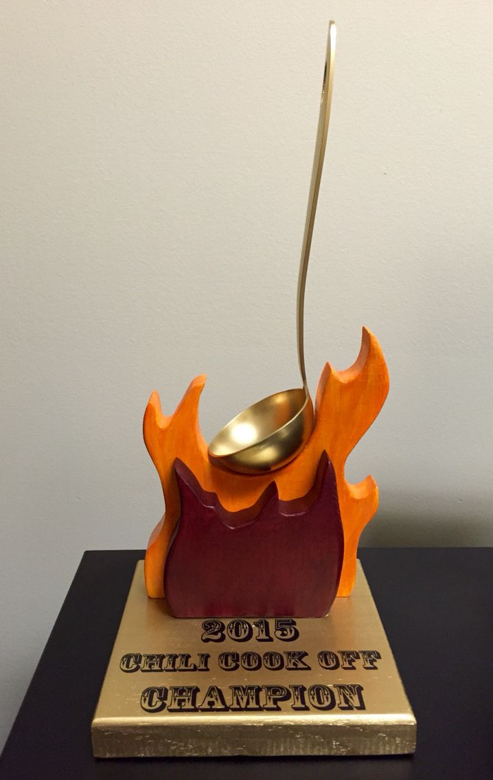 Chili cook off trophy