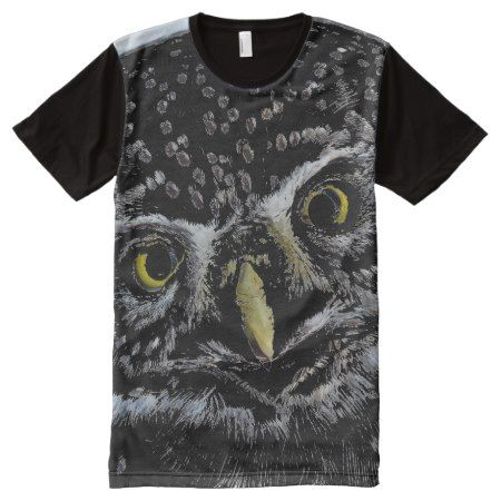 Artsy Owl Designer Men's All-Over Printed T-Shirt - click to get yours right now!