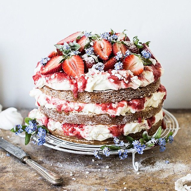 Eton Mess Cake for Bea's cookbook 2nd birthday! | Bea's cookbook