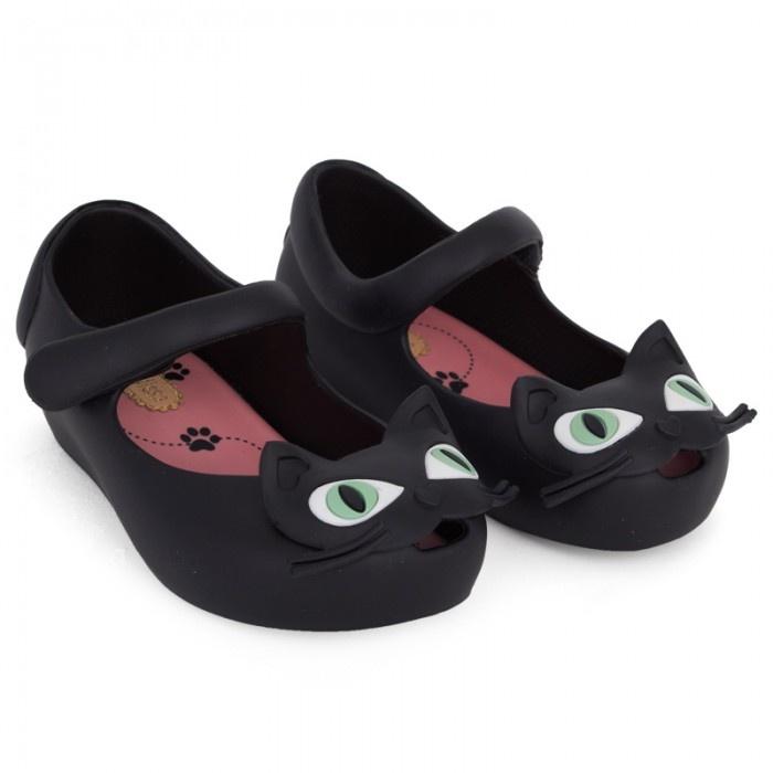 Mini Melissa Black Cat Shoes