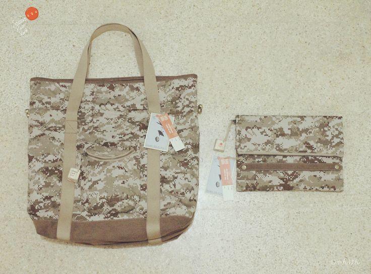 Pixel camouflage CAMOPIX & CAMOTCH                                                    Drawstring Tote Bag & Simple Grab handle