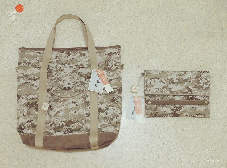 Pixel camouflage CAMOPIX & CAMOTCH                                                    Drawstring Tote Bag & Simple Grab handle