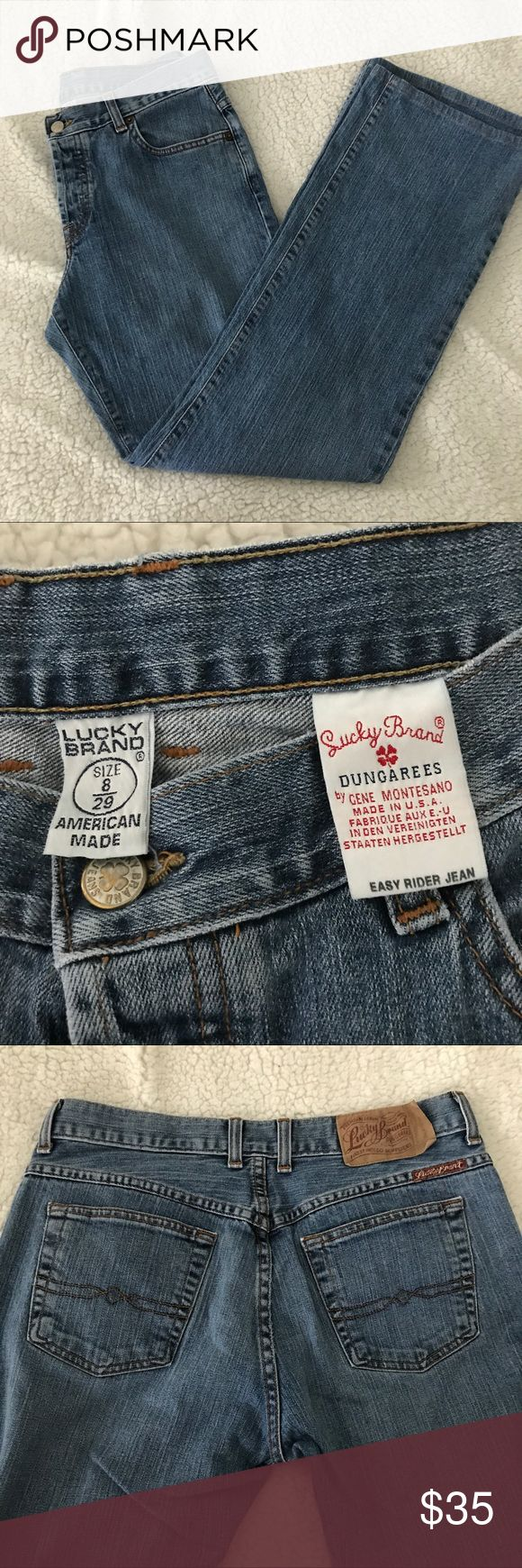 Lucky Brand Easy Rider Jeans Lucky Brand Easy Rider Jeans Women's size 8 - 29. Very good condition. Button front, no cuts, rips Inseam 30 inches Lucky Brand Jeans Straight Leg