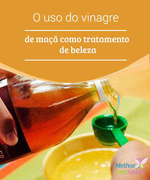 O uso do #vinagre de maçã como tratamento de #beleza  Se você vai utilizá-lo para fins #estéticos, tanto para o #cabelo quanto para a pele, é muito importante diluir o vinagre em água para evitar reações #alérgicas.