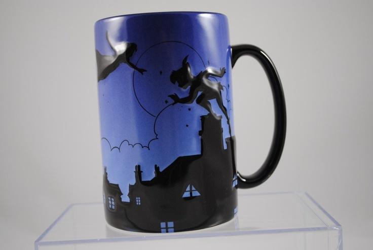Amazon.com: Disney Parks Silhouette Peter Pan Ceramic ...