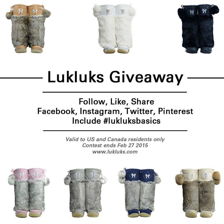 #Lukluks #giveaway Follow us and repin with hashtag #lukluksbasics