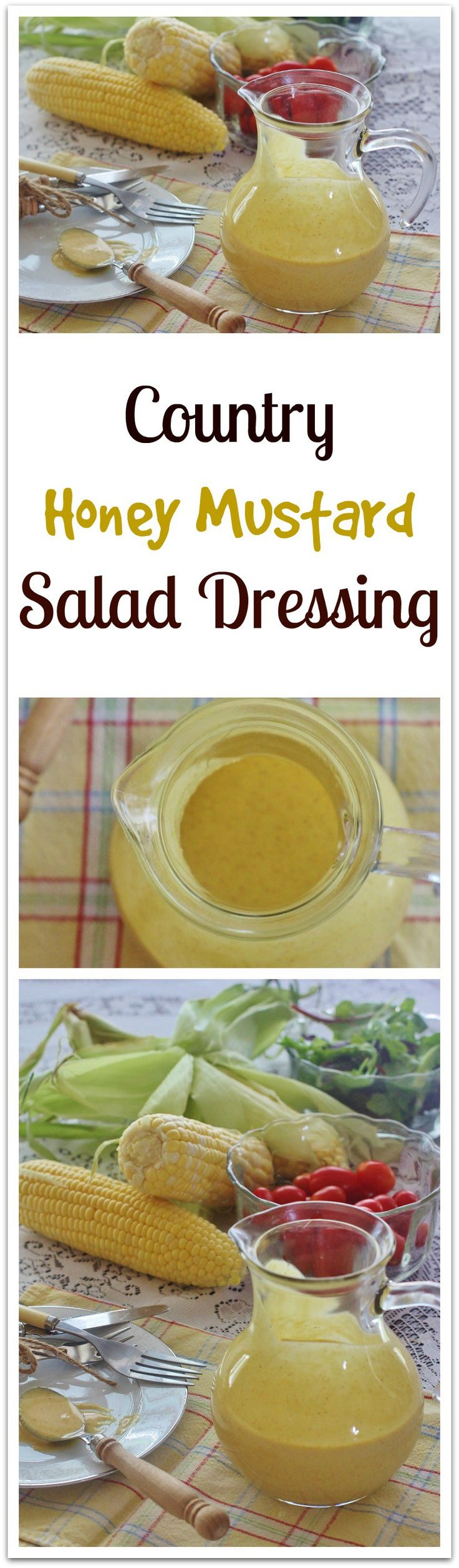 Country Honey Mustard Salad Dressing. An all-purpose sauce made with common ingredients. Use as a salad dressing, marinade, sandwich spread and more.