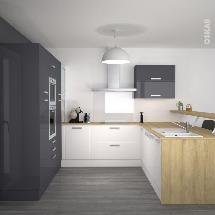 r sultat de recherche d 39 images pour cuisine bicolore bois et gris cuisine pinterest gris. Black Bedroom Furniture Sets. Home Design Ideas