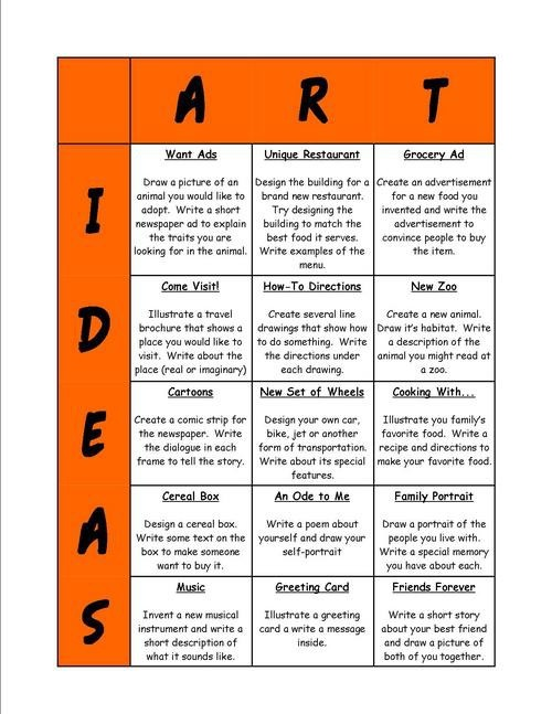 substitute art lesson plans elementary school