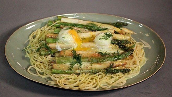 Gegrilde asperges met linguini - Recept | 24Kitchen