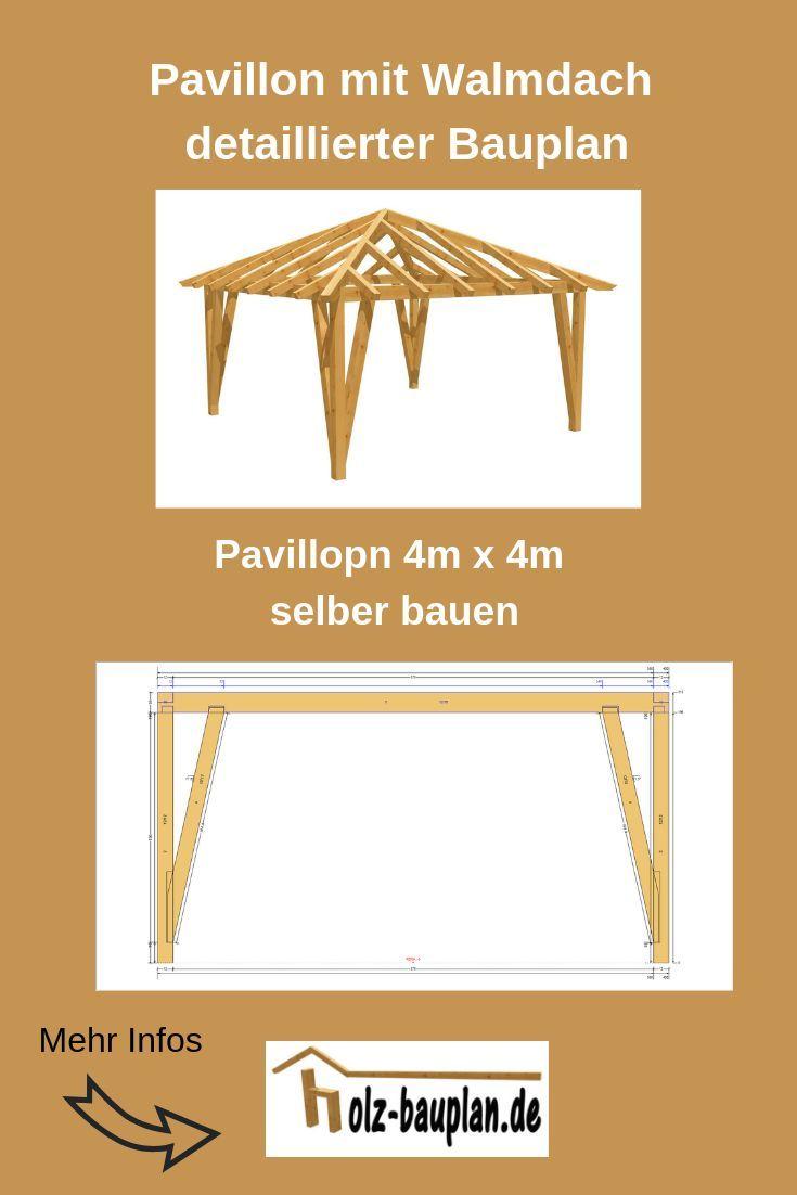 Bauanleitung Pavillon 4x4 AufbauenBauplan