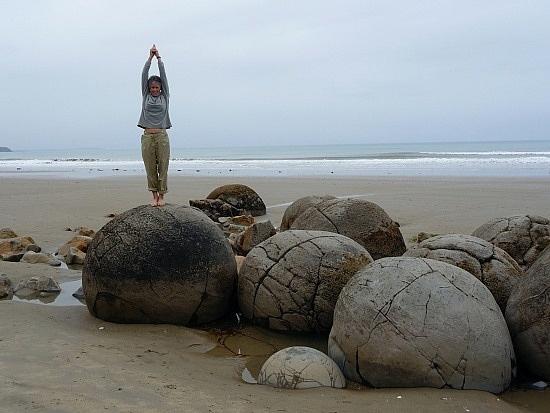 Beach tumbled rocks?