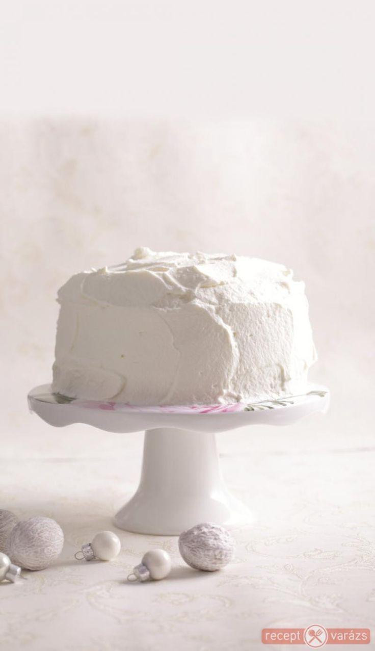 Fehér csokis torta