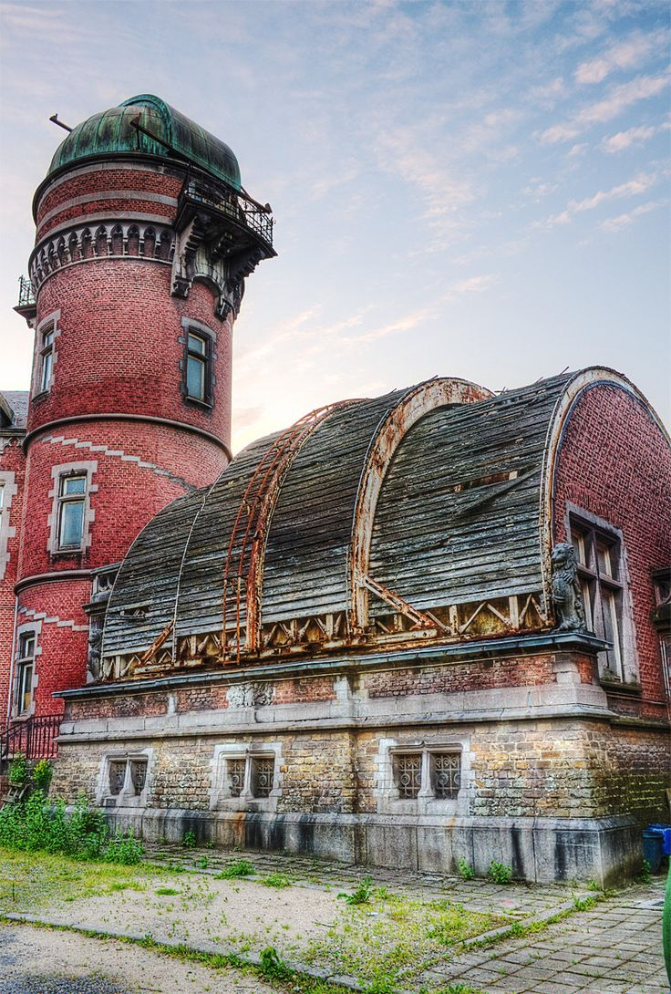 Old and abandoned; Cointe Observatory, Liège, Belgium, designed by Lambert Noppius and built in 1881-1882. Futurama anyone?
