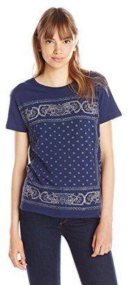 Lucky Brand Women's Bandana T-Shirt - Shop for women's T-shirt - American Navy T-shirt