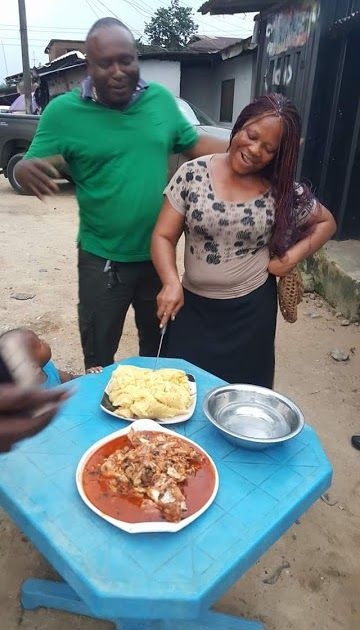 """A Nigerian mother has proved to the whole world that you can celebrate your birthday without the traditional cake as she took it up a notch with a plate of eba and soup.    The birthday celebrant  Photos have emerged on social media showing the moment a Nigerian woman happily cut her """"Eba Birthday Cake.""""  The images which are currently making the rounds online reveal how a Nigerian mother who is celebrating her birthday decided to ditch the traditional cake and went for a full plate of Eba…"""