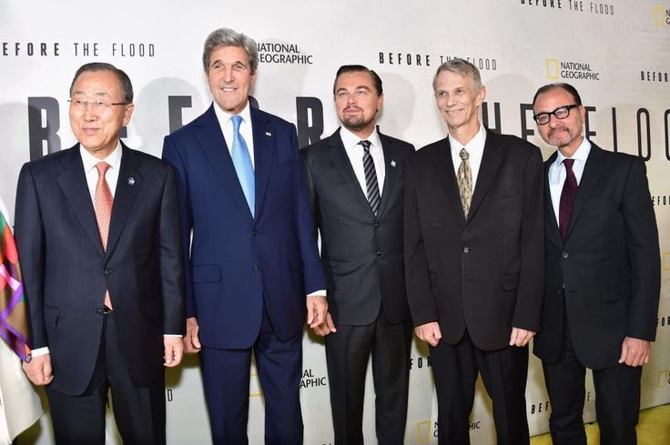 Thank you Secretary General Ban Ki-Moon, Secretary John Kerry and Piers Sellers for joining us tonight and for all your work to help protect our planet. #BeforetheFlood