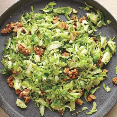 shredded brussels sprouts and walnuts...I'm so intrigued. I can't ...