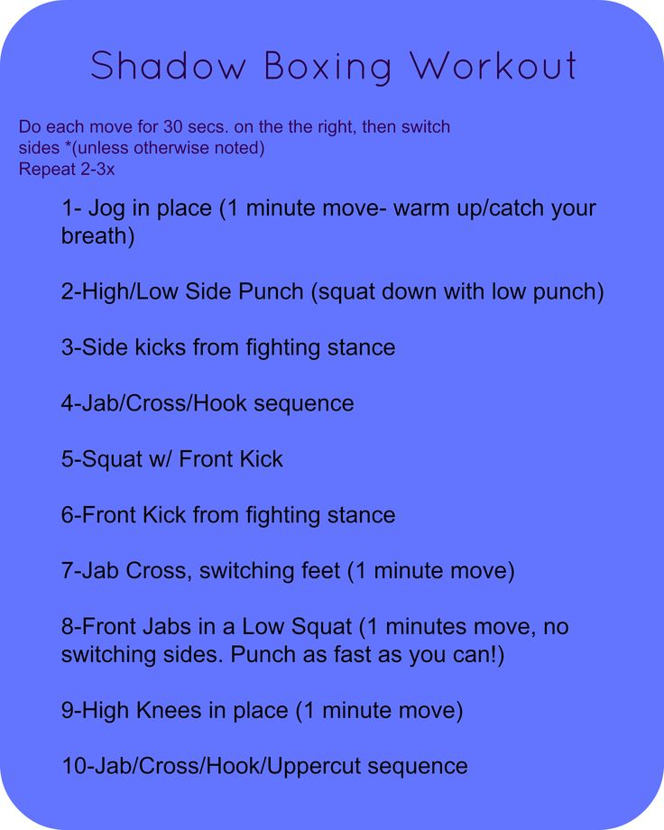 shadow boxing workout - Google Search