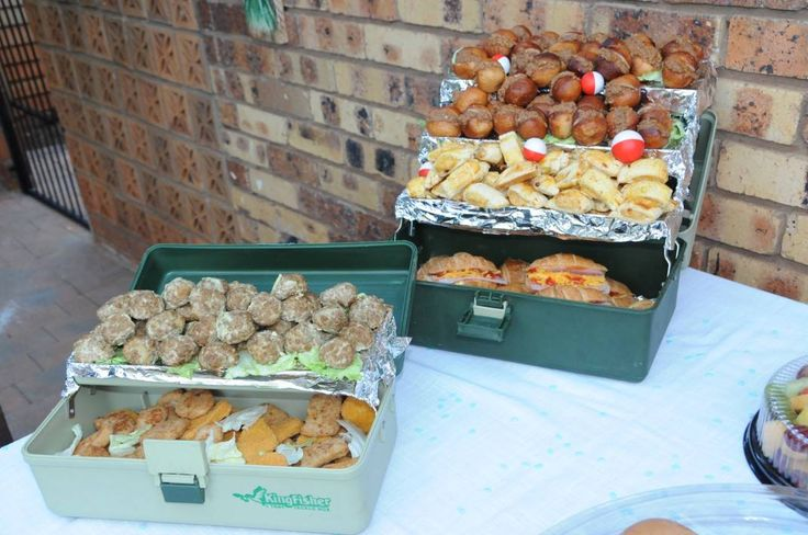 Fish theme party - all snacks are home made, recipes that were passed down...