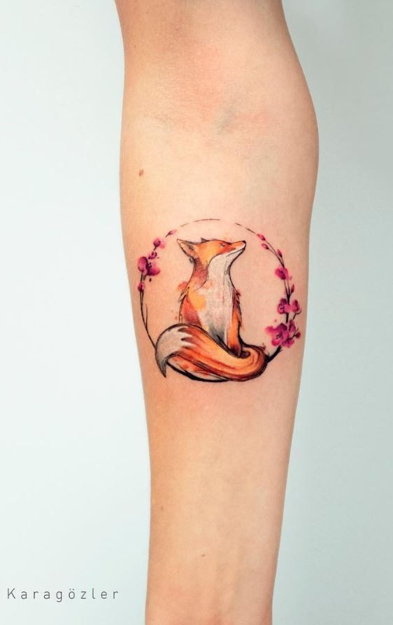 40 wunderbare Aquarell-Tattoos – Art