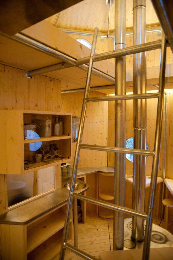 154 best alternative shelter images on pinterest architecture small houses - Amenagement cuisine studio montagne ...